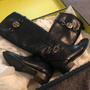 Tory Burch black riding boots size 6